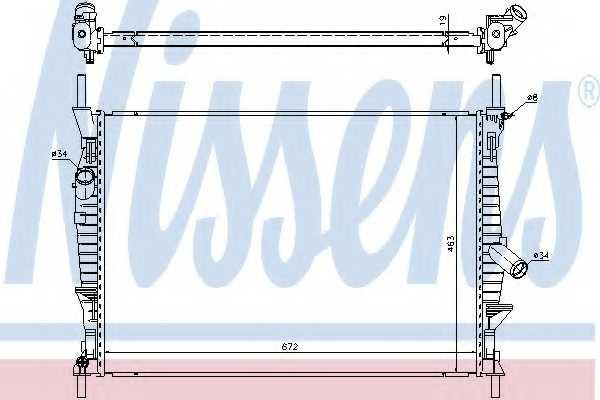 Радиатор охлаждения двигателя NISSENS 69240 - изображение