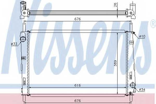 Радиатор охлаждения двигателя NISSENS 69250 - изображение