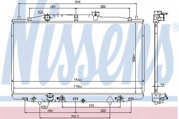Радиатор охлаждения двигателя NISSENS 69475 - изображение