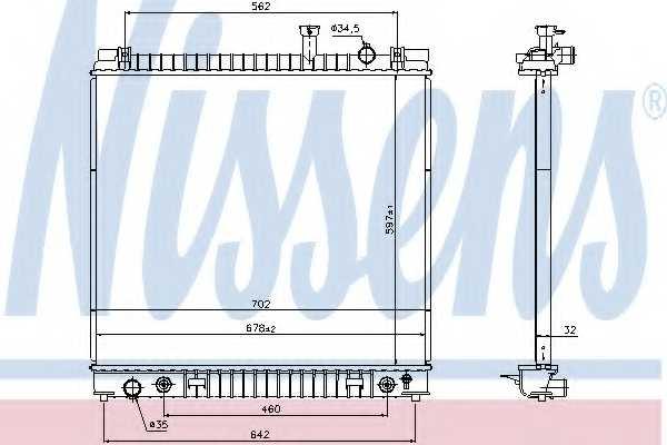 Радиатор охлаждения двигателя NISSENS 69484 - изображение