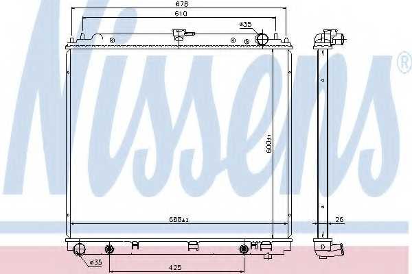 Радиатор охлаждения двигателя NISSENS 69485 - изображение