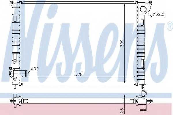 Радиатор охлаждения двигателя NISSENS 69700A - изображение