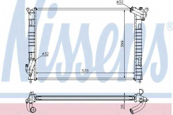 Радиатор охлаждения двигателя NISSENS 69701A - изображение