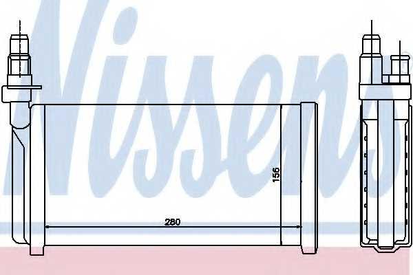 Радиатор отопления салона NISSENS 70011 - изображение