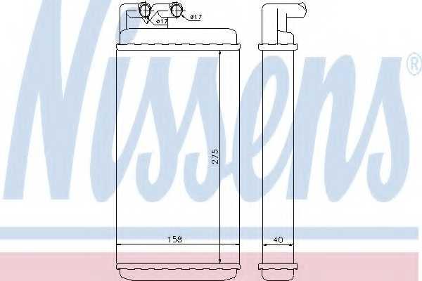 Радиатор отопления салона NISSENS 70220 - изображение