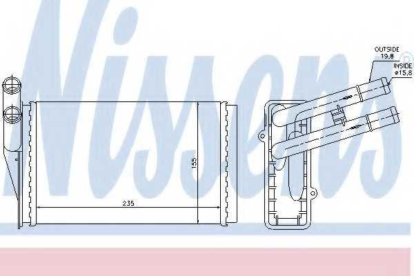Радиатор отопления салона NISSENS 70221 - изображение