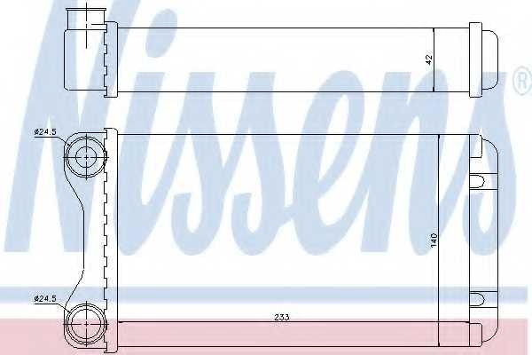 Радиатор отопления салона NISSENS 70226 - изображение