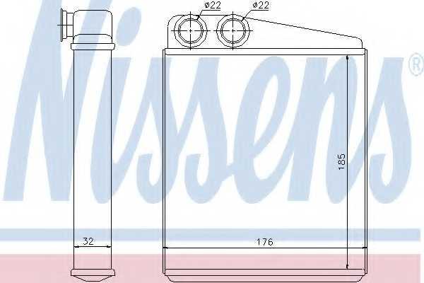 Радиатор отопления салона NISSENS 70228 - изображение