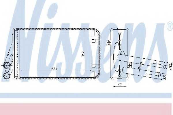 Радиатор отопления салона NISSENS 70229 - изображение