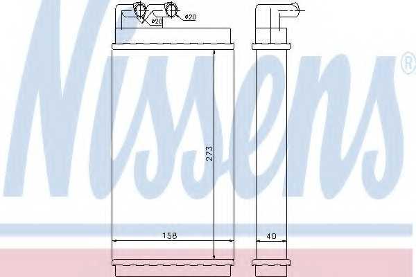 Радиатор отопления салона NISSENS 70230 - изображение