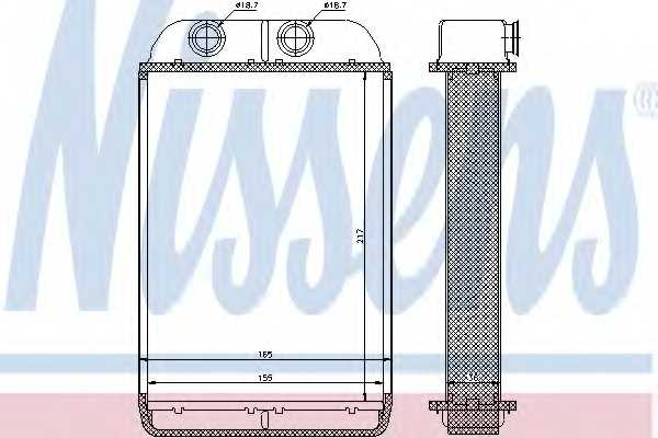 Радиатор отопления салона NISSENS 70232 - изображение