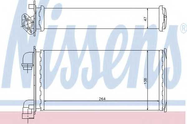 Радиатор отопления салона NISSENS 70501 - изображение