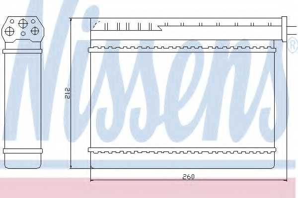 Радиатор отопления салона NISSENS 70512 - изображение