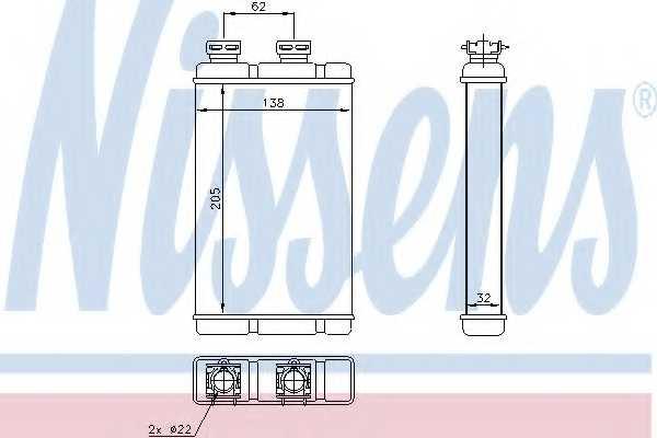 Радиатор отопления салона NISSENS 70513 - изображение