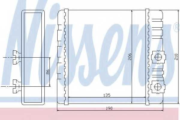 Радиатор отопления салона NISSENS 70514 - изображение