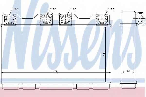 Радиатор отопления салона NISSENS 70515 - изображение