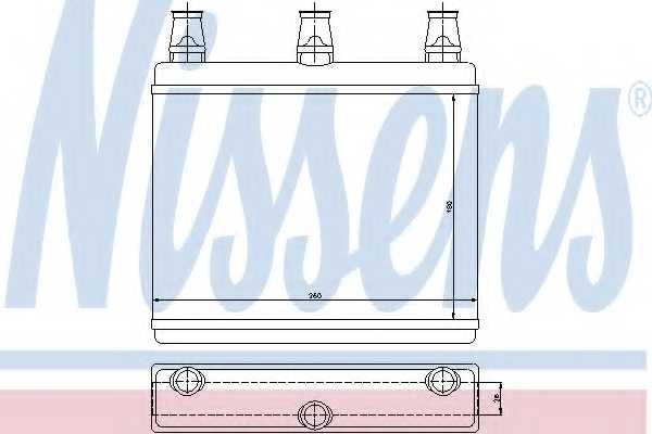 Радиатор отопления салона NISSENS 70517 - изображение