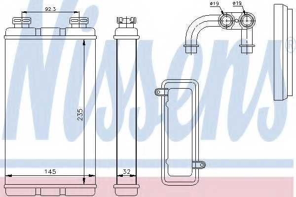 Радиатор отопления салона NISSENS 70519 - изображение