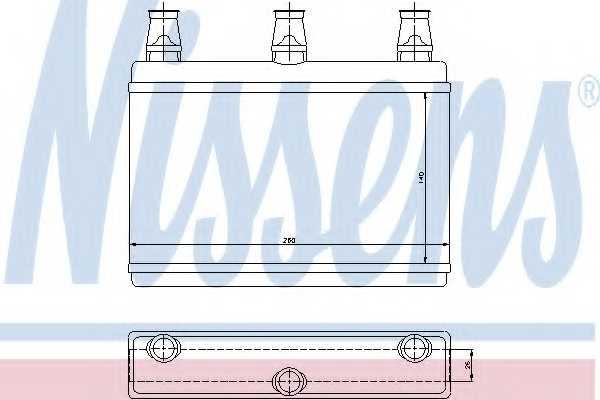 Радиатор отопления салона NISSENS 70522 - изображение