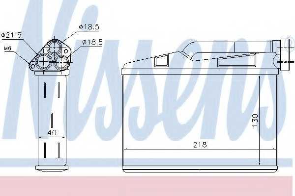 Радиатор отопления салона NISSENS 70530 - изображение