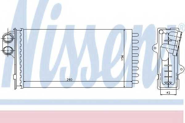 Радиатор отопления салона NISSENS 71145 - изображение