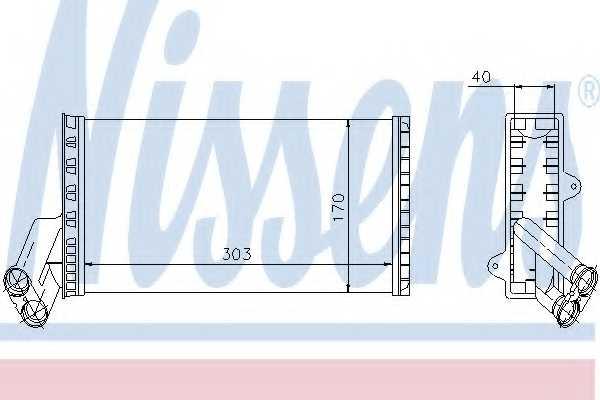 Радиатор отопления салона NISSENS 71149 - изображение