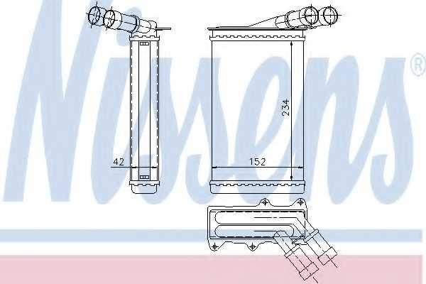 Радиатор отопления салона NISSENS 71156 - изображение