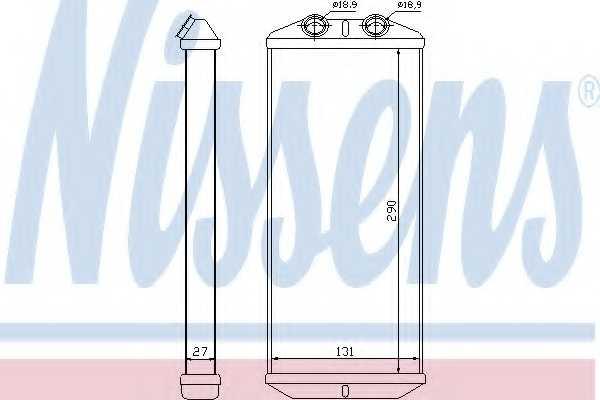 Радиатор отопления салона NISSENS 71158 - изображение