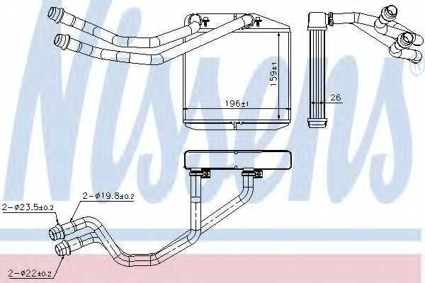 Радиатор отопления салона NISSENS 71163 - изображение