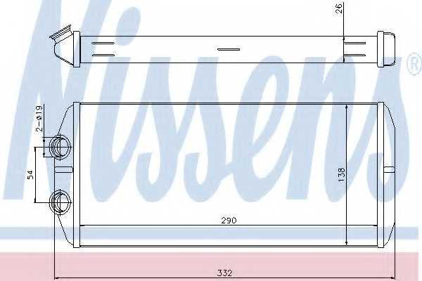 Радиатор отопления салона NISSENS 71164 - изображение