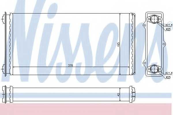 Радиатор отопления салона NISSENS 71301 - изображение