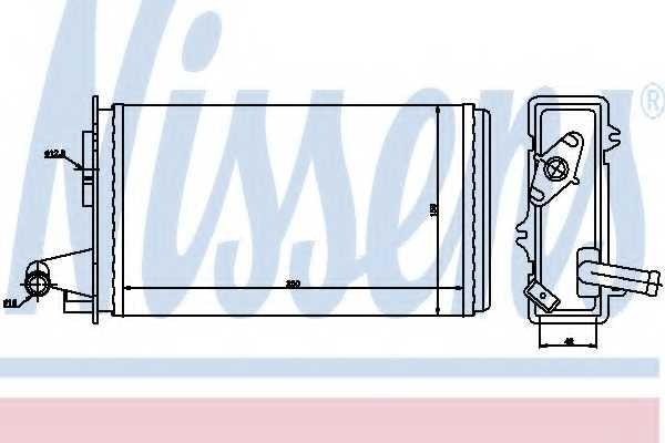Радиатор отопления салона NISSENS 71438 - изображение