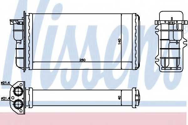Радиатор отопления салона NISSENS 71441 - изображение