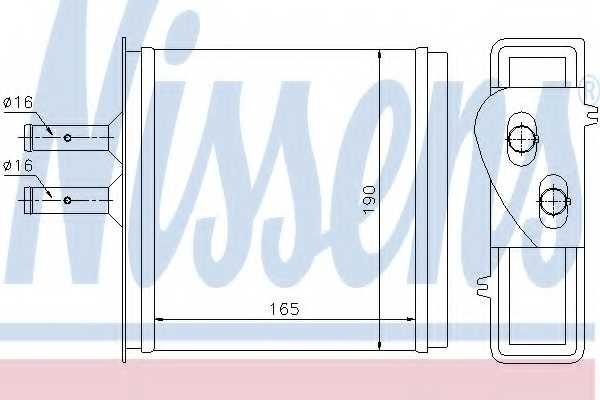 Радиатор отопления салона NISSENS 71442 - изображение
