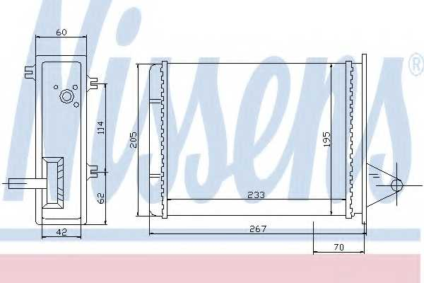 Радиатор отопления салона NISSENS 71448 - изображение