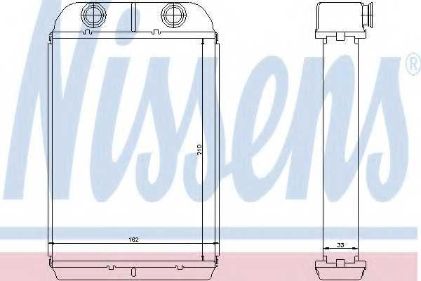 Радиатор отопления салона NISSENS 71452 - изображение