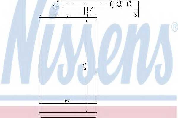Радиатор отопления салона NISSENS 71740 - изображение