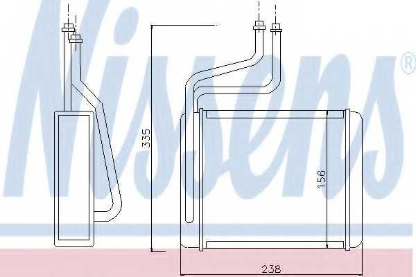 Радиатор отопления салона NISSENS 71744 - изображение