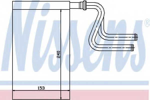 Радиатор отопления салона NISSENS 71745 - изображение
