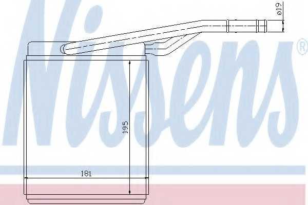 Радиатор отопления салона NISSENS 71747 - изображение