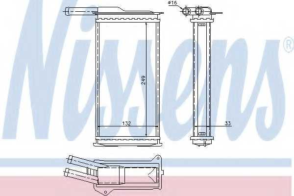 Радиатор отопления салона NISSENS 71751 - изображение