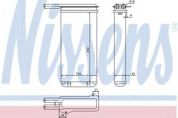 Радиатор отопления салона NISSENS 71755 - изображение
