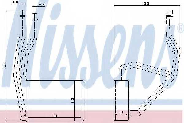 Радиатор отопления салона NISSENS 71765 - изображение