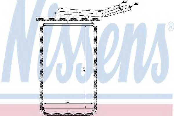 Радиатор отопления салона NISSENS 71769 - изображение