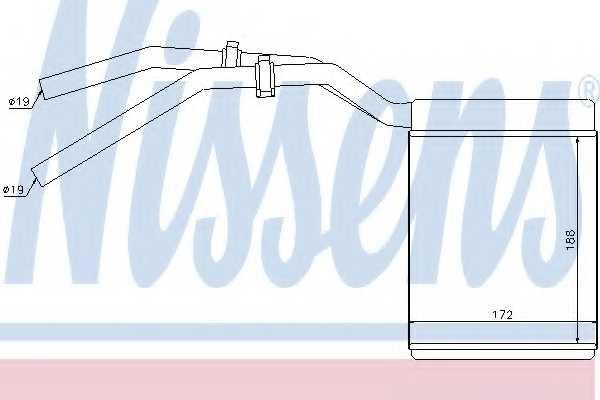 Радиатор отопления салона NISSENS 71770 - изображение