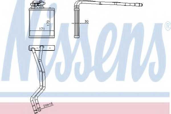 Радиатор отопления салона NISSENS 71771 - изображение