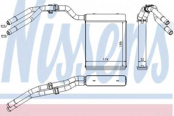 Радиатор отопления салона NISSENS 71773 - изображение