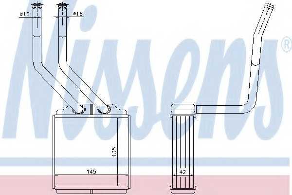 Радиатор отопления салона NISSENS 71776 - изображение