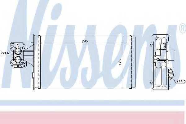Радиатор отопления салона NISSENS 71803 - изображение