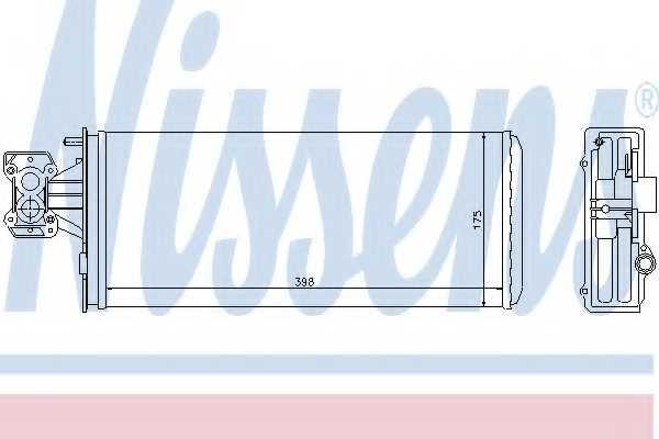 Радиатор отопления салона NISSENS 71804 - изображение